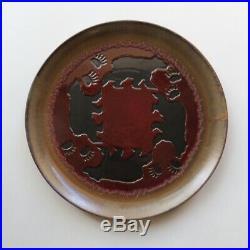 15 Big Sky Carvers Bear Stoneware Embossed Plate Platter Dish Glazed Finish