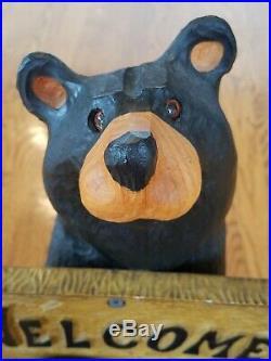 18 Big Sky Bears (Big Sky Carvers) Welcome/Go Away Bear by Jeff Fleming