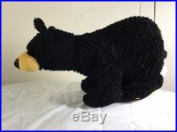 1996 Big Sky Carvers Bearfoots 12 Black Bear Plush Stuffed Animal
