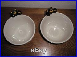 2 HTF Big Sky Carvers Bearfoots Bears Cereal Bowls Discontinued Jeff Fleming