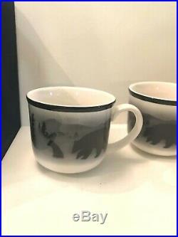 3 Big Sky Lodge Stoneware Bruins Bear Bears Coffee Mug Cups Thomas Norby Design