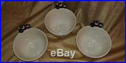 3 HTF Big Sky Carvers Bearfoots Bears Cereal Bowls Discontinued Jeff Fleming