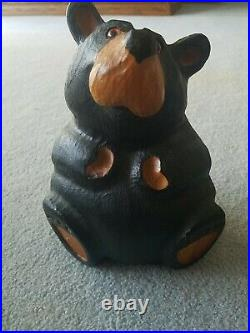 3pc Big Sky Carvers Jeff Fleming Bearfoots Rosie Chillin Tree Carved Black Bears