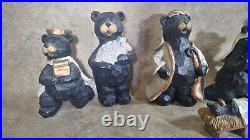 7 Pc Black Bear Nativity Set Faux Wood Big Sky Carvers Beartivity Mary Jesus