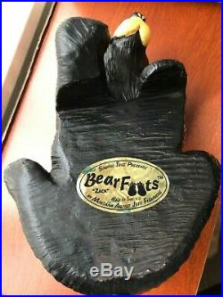BEARFOOTS BEARS ZACK Shelf Hook Bear Singing Tree Jeff Flemming Big Sky Carver
