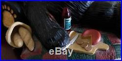 BEARFOOTS Bear Picnic with Bird Figurine Jeff Fleming Big Sky Carvers