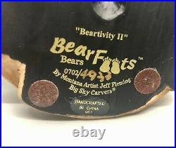 BEARFOOTS FIGURINES Beartivity II Montana Artist Jeff Fleming Big Sky Carvers