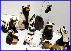 BEARTIVITY BearFoot Bears Nativity Set by Jeff Fleming Big Sky Carvers 3 BOX SET