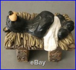 BEARTIVITY BearFoots Bears by Jeff Fleming Nativity Set Big Sky Carvers Rustic
