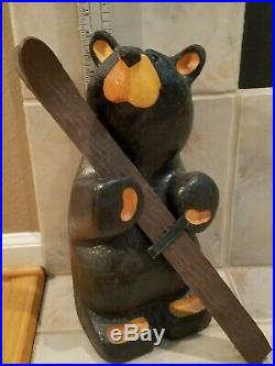 BIG SKY BEARS Carved Wood Golf and/or Ski Bear Sculpture by Jeff Fleming Montana