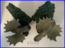 BIG SKY CARVERS BEARFOOTS MOOSES bookend set Simon and Schuster Rare Vintage