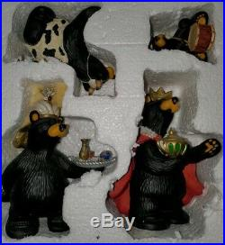 BIG SKY CARVERS Bear Foots BEARTIVITY III Figurines Bear Nativity 4 Pieces
