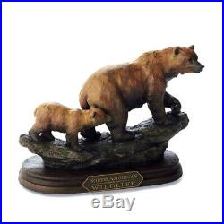BIG SKY CARVERS Bear and Cub Sculpture MOUNTAIN MATRIARCH by MARC PIERCE