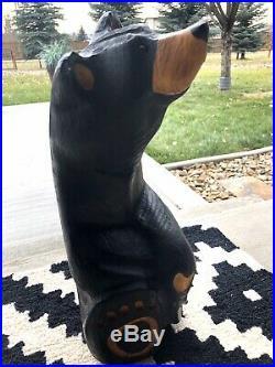 BIG SKY CARVERS Bears 15 1/2 Woodcarved Black Bear(Jeff Fleming)