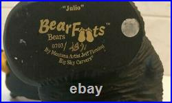 BIG SKY CARVERS JEFF FLEMING BEARFOOTS Julio Numbered, Retired