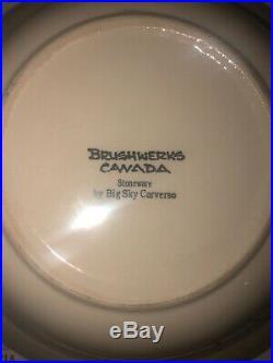 BRUSHWERKS BEAR BIG SKY CARVERS Lot Of 3 Large Soup Bowls 9