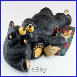 BearFoots Bear Picnic Jeff Fleming Big Sky Carvers 7.75 Long Chipped Basket
