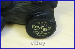 BearFoots Jeff Fleming Big Sky Carvers Lot of Four Jill and Cub Sher Bear ++
