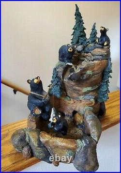 BearFoots Mountain Fountain by Big Sky Carvers Artist Jeff Fleming