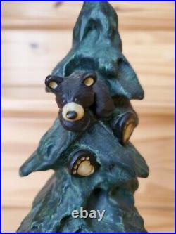Bear Foots Family Affair Jeff Fleming Big Sky Carvers 10.5 tall Bears in Tree