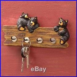 Bear Key Holder Hook Hanging Rack Wall Mount Home Decor Kitchen Resin Small Gift