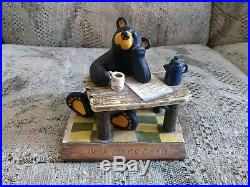 Bear figurine A Bear Before Coffee BIG SKY CARVERS Jeff Fleming Bearfoot Bears