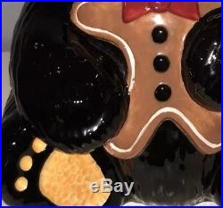 Bearfoot Bear Gingerbread Man Christmas Cookie Jar Big Sky Carver Jeff Fleming