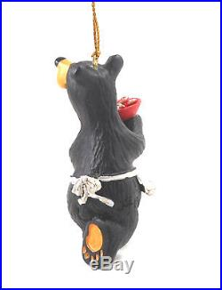 Bearfoot Best Cookie Maker Bear with Apron Ornament by Big Sky Carvers