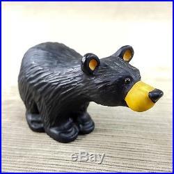 Bearfoots 3 pc Set Bart Boyd Matty Bear Resin Figurine Big Sky Faux Carved Wood