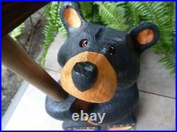 Bearfoots BEAR Jeff Fleming BIG SKY Carvers Large Standing Wood Bear 21 Tall