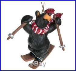 Bearfoots Bear Freestyle Skier Ornament by Jeff Fleming for Big Sky Carvers