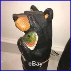 Bearfoots Bear Jeff Fleming Big Sky Carvers MADISON Standing Bear With Fish 13