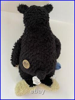 Bearfoots Bear Plush Big Sky Carvers Lil Joe Slippers Blanket 1996 Black Teddy