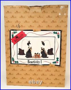 Bearfoots Bears Beartivity Big Sky Carvers 7 Piece Nativity Set & Original Box