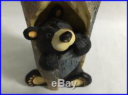 Bearfoots Bears SPARKY Candle Holder Jeff Fleming Big Sky