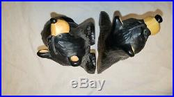 Bearfoots Bears Simon & Schuster Bookends by Jeff Fleming Big Sky Carvers Set 1