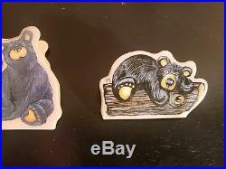 Bearfoots Big Sky Carvers 4 pc magnet clip set New