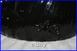 Bearfoots Big Sky Carvers Ceramic Black Bear Kitchen Utensil Holder Tabletop