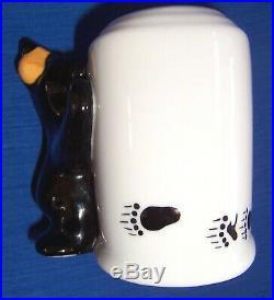 Bearfoots Big Sky Carvers Ceramic Black Bear Toothbrush Holder 3 1/2 Tall