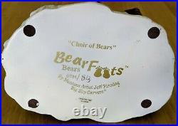 Bearfoots Big Sky Carvers Jeff Fleming Choir of Bears Figure