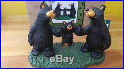 Bearfoots Big Sky Carvers Jeff Fleming Walk in the Park Black Bears Figurine