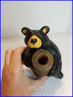 Bearfoots Big Sky Carvers Missy Black Bear With Honey Pot Jeff Fleming