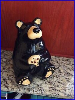 Bearfoots Black Bear Large Cookie Jar Big Sky Carvers Jeff Fleming