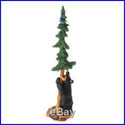 Bearfoots Bluebird And Bear with Tree Figurine Big Sky Carvers Jeff Fleming