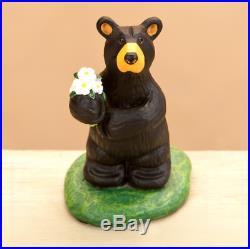Bearfoots Flowers for You Mini Figurine Big Sky Carvers Demdaco #