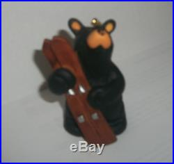 Bearfoots Going Skiing Ornament by Jeff Fleming for Big Sky Carvers #B5070019