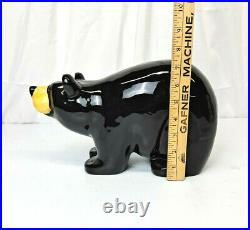 Bearfoots Large Ceramic Coin Bank By Jeff Flemming Big Sky Carvers