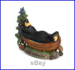 Bearfoots Life is Simple Bear Figurine Jeff Fleming Big Sky Carvers #3005080181