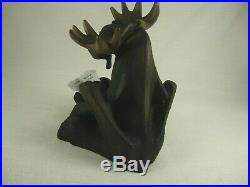 Bearfoots Mooses Story Time withBear&Book Resin 6.5 Figurine 2000 Big Sky Carvers