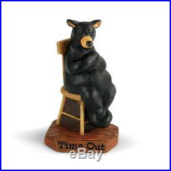 Bearfoots New Time Out figurine by Jeff Fleming Naughty Bear, Big Sky Carvers